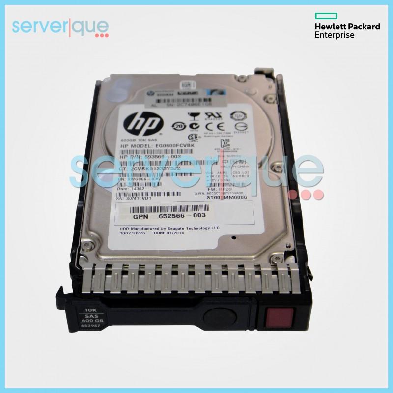 Certified Refurbished HP EG0600FCHHU-X Incoming HP 600GB 6G SAS 10K rpm SFF Dual Port Ente 2.5-inch